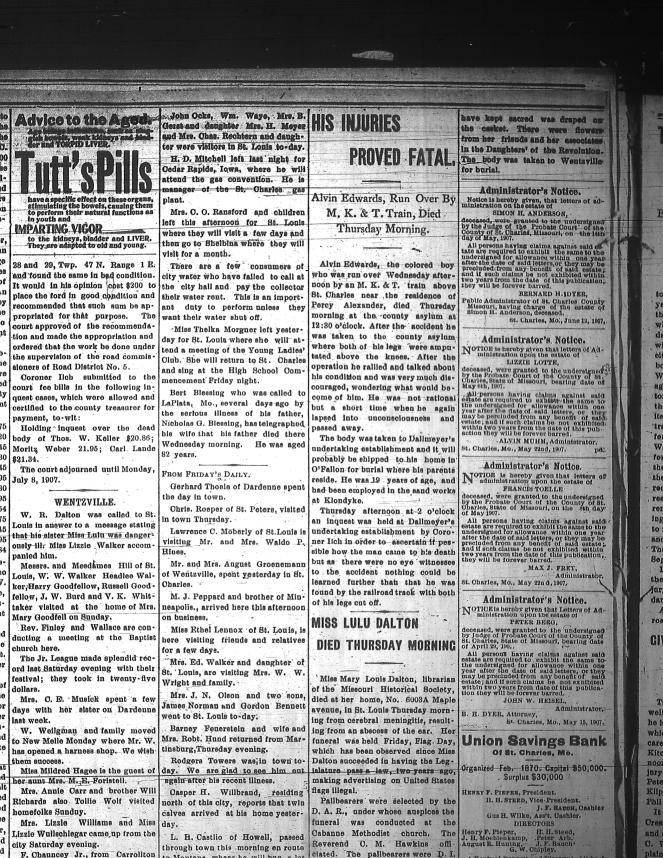 Sage Chapel St. Charles Cosmos-Monitor 19 Jun 1907