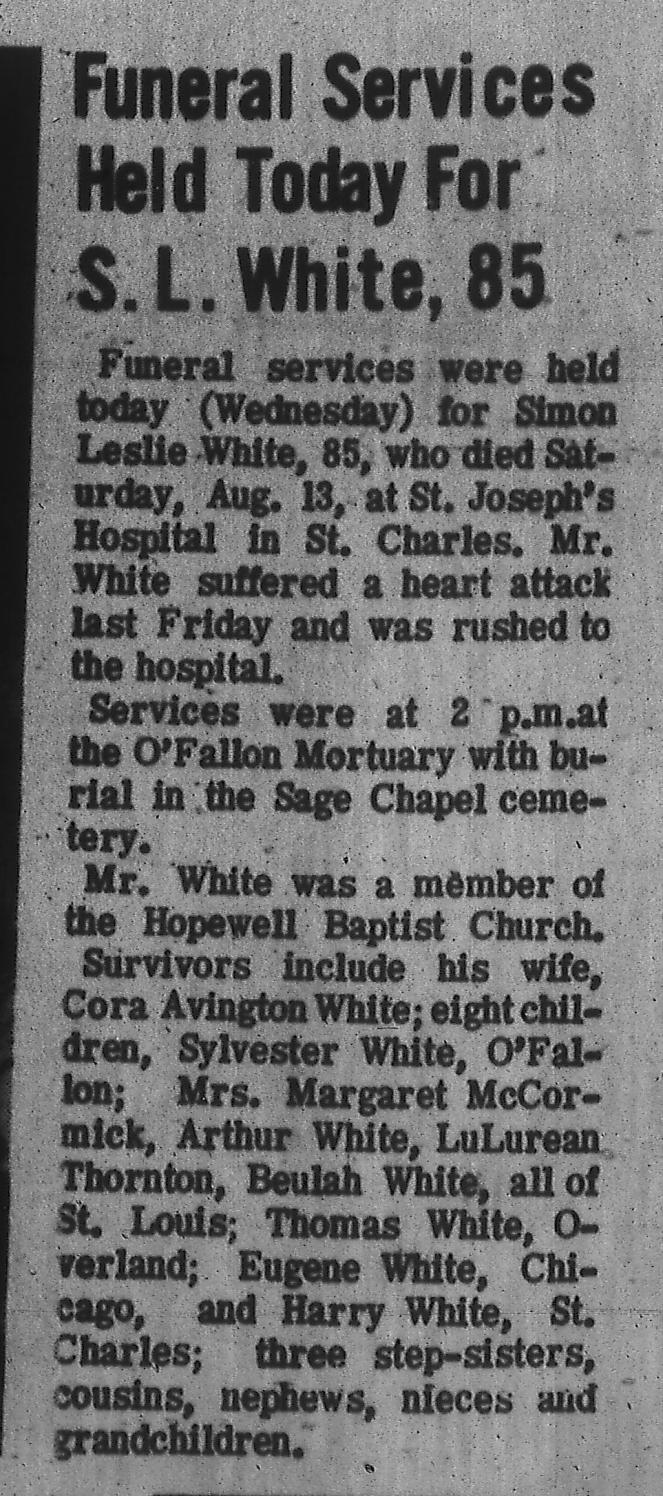 Sage Chapel O'Fallon Community News 17 Aug 1966