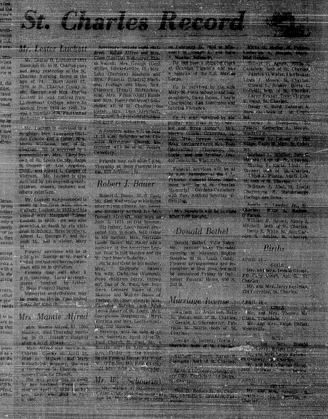 Sage Chapel St. Charles Daily Banner-News 20 Apr 1972